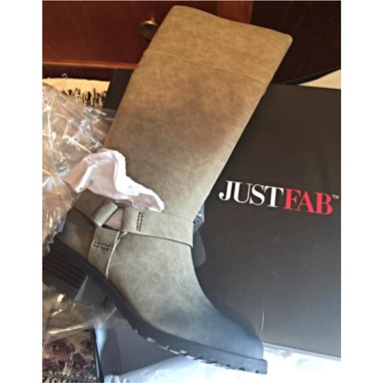 JustFab LIGHT TAN/BLACK SHADING Boots