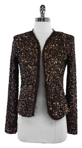 Nicole Miller Brown Sequin Jacket
