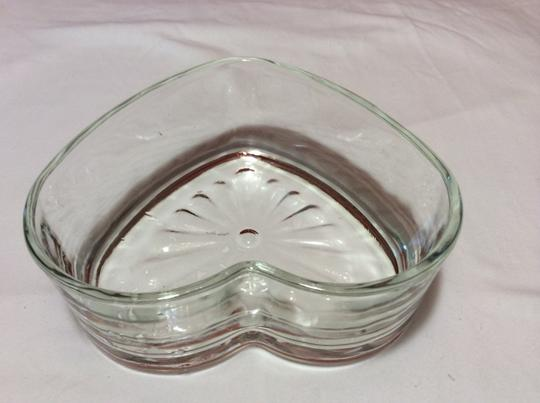 Clear Candy Dish Heart Shaped Reception Decorations