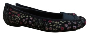 Rocket Dog Floral black with flowers Flats