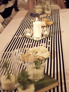 Black and White Striped Table Runners Tablecloth
