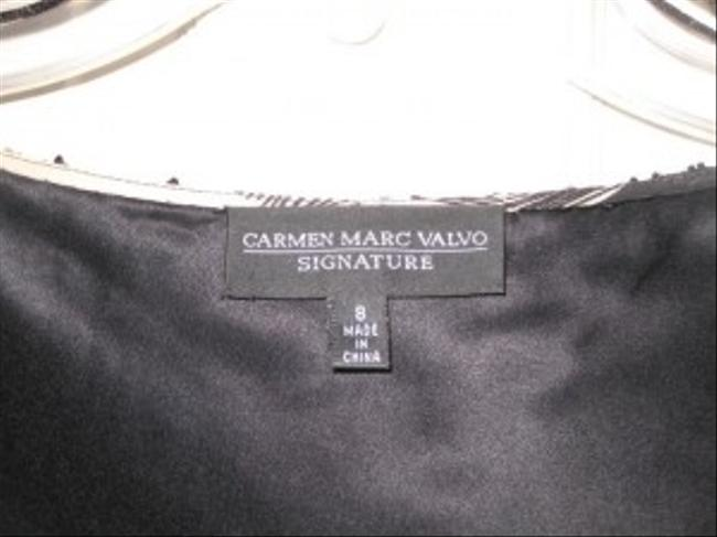 Carmen Marc Valvo Top Black and Tan