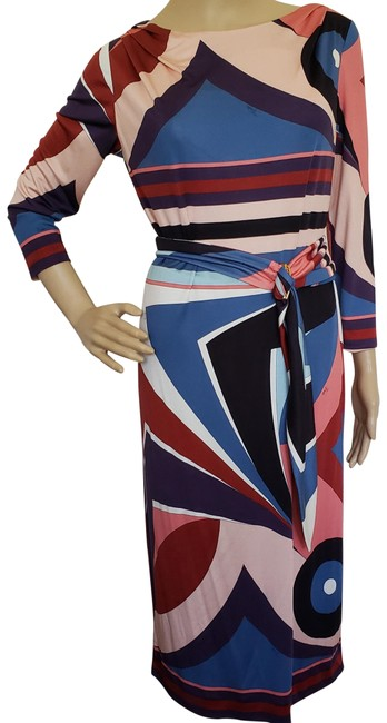 Preload https://img-static.tradesy.com/item/8969722/emilio-pucci-blue-red-multicolor-silk-printed-shift-belted-mid-length-cocktail-dress-size-10-m-0-3-650-650.jpg