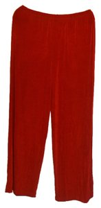 Citiknits Wide Leg Pants Red