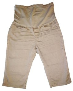 Bella Vita Maternity Maternity Bermuda Shorts in Tan