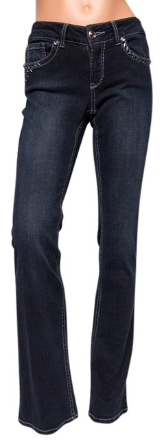 Preload https://img-static.tradesy.com/item/8970625/cache-blue-dark-rinse-stitching-low-embellished-boot-cut-jeans-size-26-2-xs-0-3-650-650.jpg