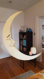 Dappsy Gold Glitter Gatsby Paper Moon Photo Booth & Bench