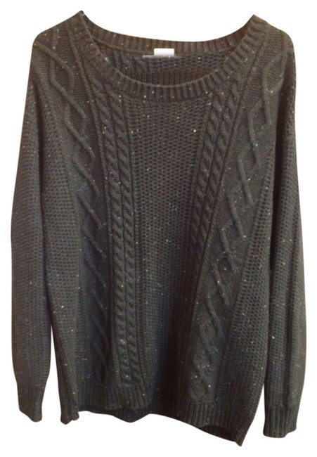 Item - Cable Knit Cotton Black Sweater