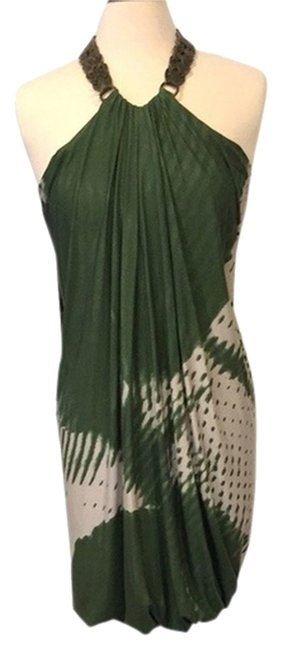 Yigal Azrouël short dress Green and |vory on Tradesy