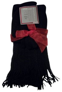 Covington Covington Fall Winter Black Scarf Gloves & Cap Set