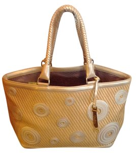 Cole Haan Braided Straps Tote in Tan