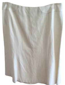 Ann Taylor Skirt Cream