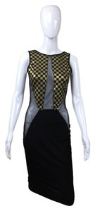 Other Mesh Checkered Dress