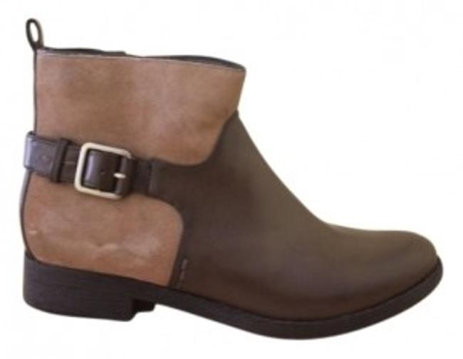 Item - Brown/Tan Leather Suede Boots/Booties Size US 7 Regular (M, B)
