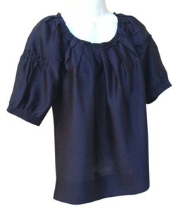 Alfani Work Silk-look 8 Top Navy blue