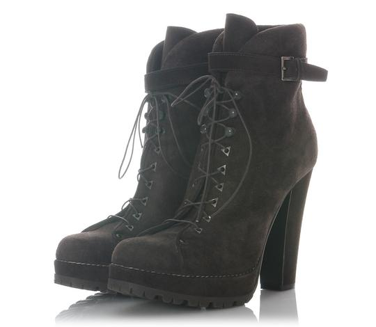 ALAA Suede Ankle Al.eh1125.33 Lace Up Brown Boots
