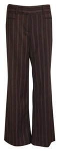 BCBGMAXAZRIA Carrier Striped Brown Work Wide Wide Leg Pants BROWN/STRIPED