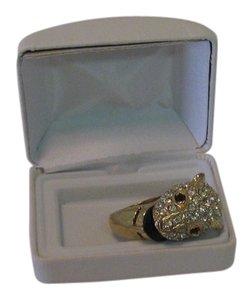 Other WHITE STONE CHEETAH HEAD COSTUME RING SIZE 9