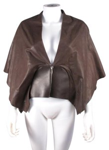 Rick Owens Leather Jacket Cape