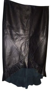 Roberto Cavalli Cavali Leather Skirt black