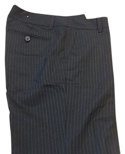 Banana Republic Straight Pants Black pin strip