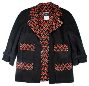 Chanel Tweed Wool Cashmere Black Jacket