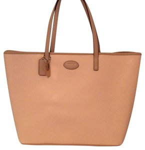 Coach Metro Leather Tote in Peach Bisque