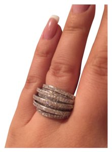 Not Rated Beautiful Micro Pave Multi Layered Ring