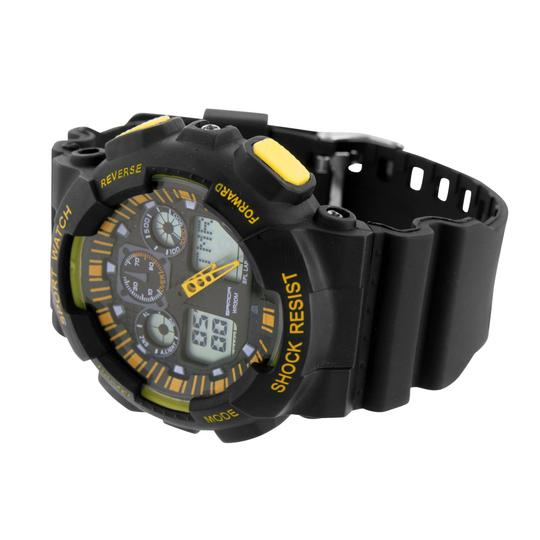 Other Mens Sports Shock Resistant Watches Black Yellow Stylish New Digital-Analog Sale