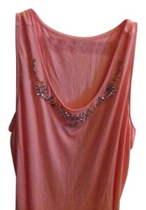 Lane Bryant Sleeveless Jeweled Top Pink