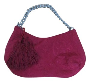Banana Republic Cloth With Tassle Wristlet in red