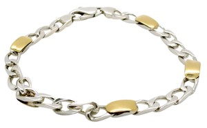Tiffany & Co. Vintage Tiffany & Co.18k And Sterling Silver Bracelet, 7.5in