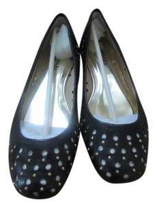Michael Kors Open Weave black with gold metallic dots Flats