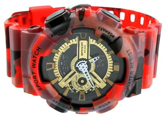 Other Mens Shock Resistant Watch Black & Red Digital-Analog Sports Edition Adventures