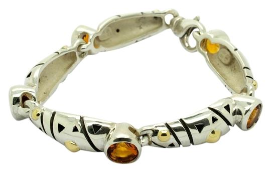 Preload https://img-static.tradesy.com/item/8978821/john-atencio-vintage-sterling-silver-18k-gold-and-citrine-stone-7in-bracelet-0-2-540-540.jpg