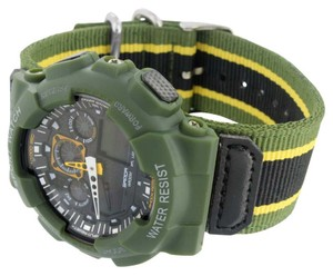 Other Green Shock Resistant Watch Mens Army Sports Wrist Watch Gift Digital Analog New
