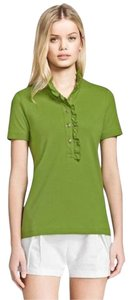 Tory Burch Button Down Shirt leaf green