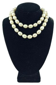 Chanel Chanel White Faux Pearl Long Necklace
