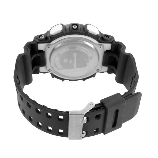 Other Mens Sports Shock Resistant Watch Black Blue Analog-Digital Silicone Day Date