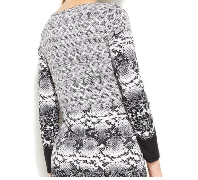 Michael Kors short dress Black White Grey Alderton Anaconda Snakeskin Print on Tradesy