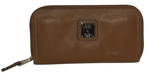 Tignanello BROWN LEATHER ORGANIZER ZIP AROUND WALLET
