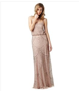 Adrianna Papell Taupe Polyester Embellished Blouson Gown Feminine Bridesmaid/Mob Dress Size 18 (XL, Plus 0x)