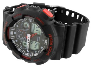Black Red Mens Shock Resistant Watch Digital Analog Sports Special Edition Sale