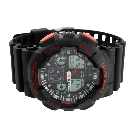 Other Black Red Mens Shock Resistant Watch Digital Analog Sports Special Edition Sale