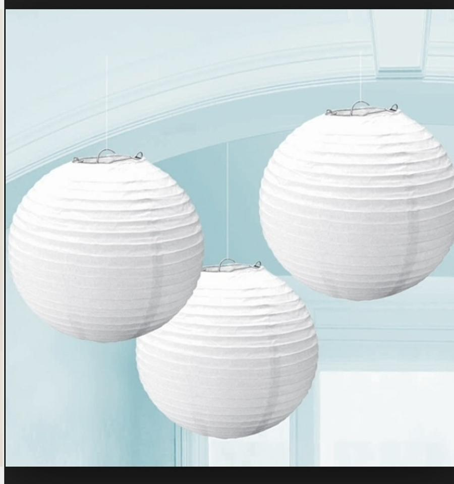 10 large white paper lanterns tradesy weddings