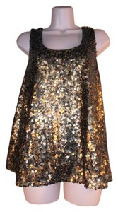 Vince Camuto Top BRONZE sequin