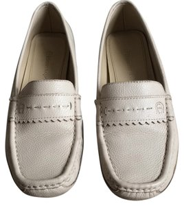 Etienne Aigner Leather Cream Flats