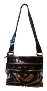Brighton Striped Zebra Leopard Leather Cross Body Bag