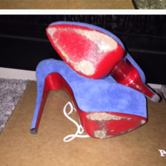Christian Louboutin Blue Platforms
