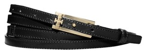 Tory Burch Tory Burch Black Leather Double Wrap Belt
